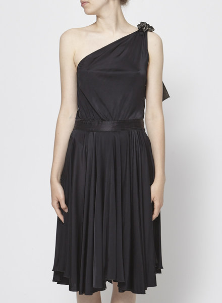Dolce & Gabbana ONE-SHOULDER BLACK BALLERINA DRESS