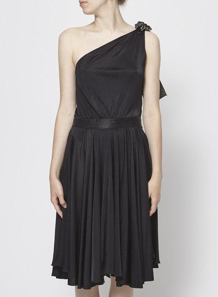 Dolce & Gabbana ONE-SHOULDER BLACK BALLERINA DRESS