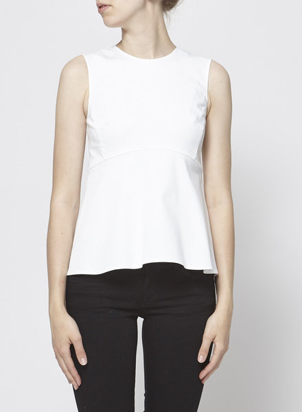Banana Republic WHITE SLEEVELESS PEPLUM TOP