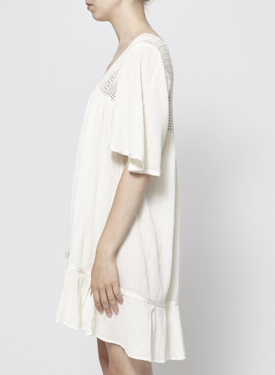 Designer inconnu OFF-WHITE EMBROIDERED DRESS
