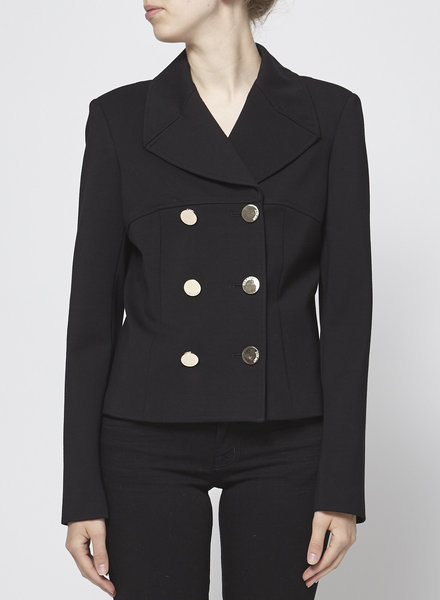 GUESS GOLD BUTTONS BLACK JACKET