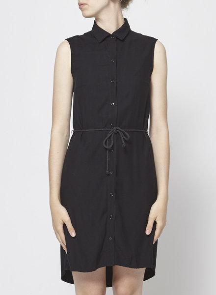 Meemoza SLEEVELESS BLACK SHIRT DRESS
