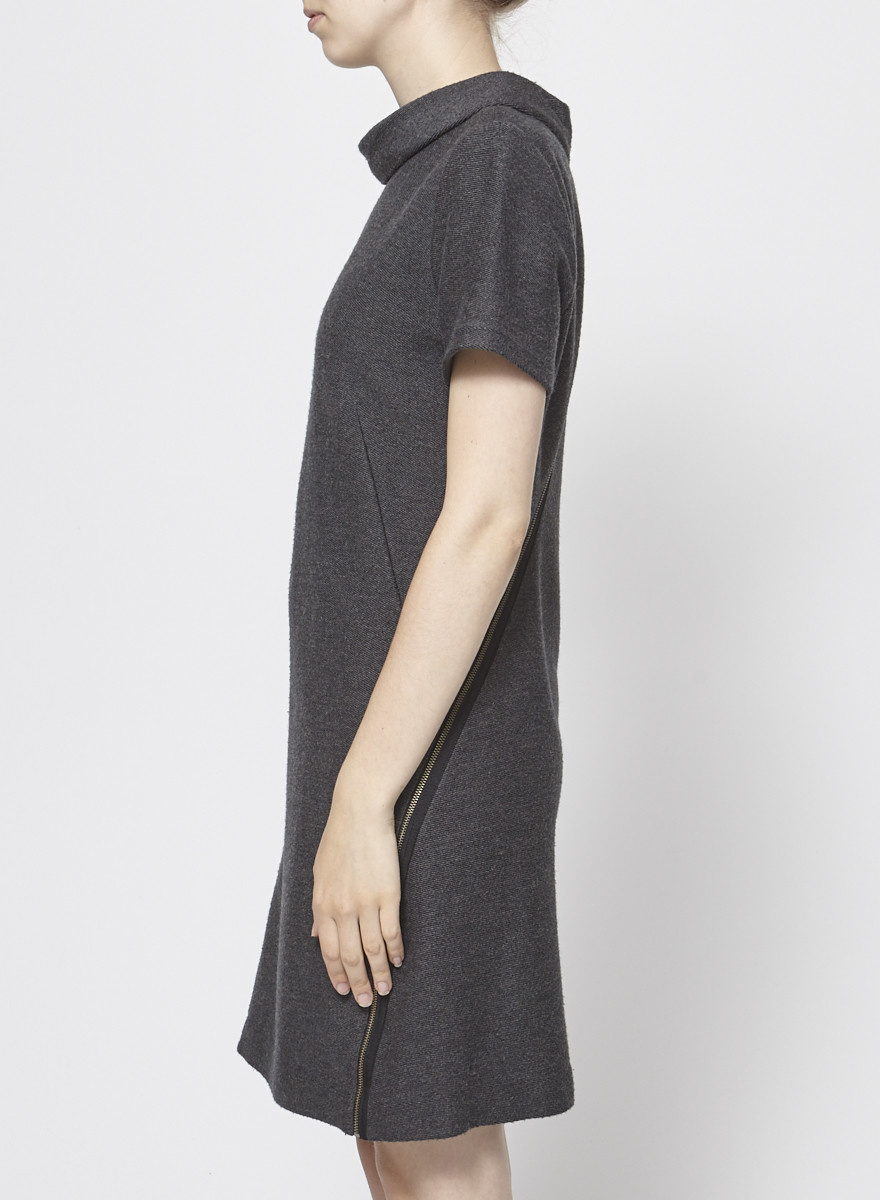Theory Gray Wool Blend Dress