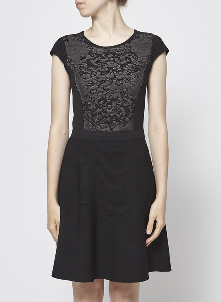 Rebecca Taylor BLACK KNITTED DRESS