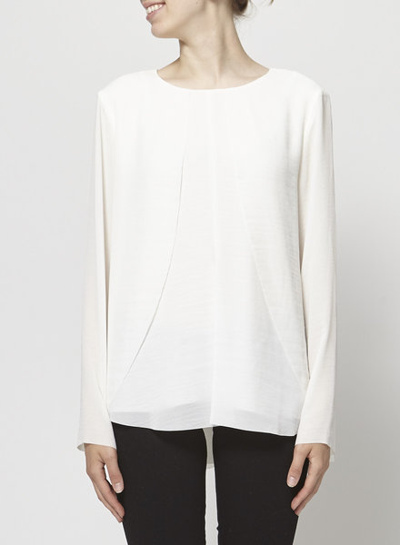 COS LAYERED LOOSE FIT OFF-WHITE TOP
