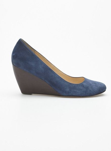 Cole Haan NAVY SUEDE WEDGE SHOES