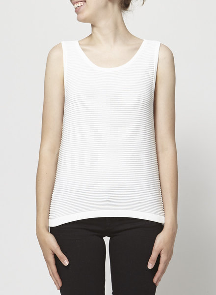 Babaton WHITE SLEEVELESS TOP