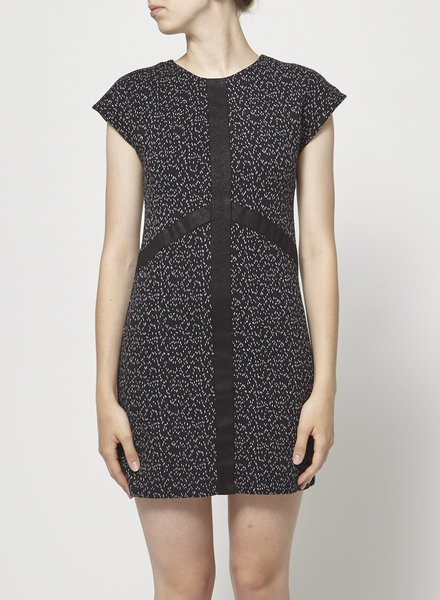 Eve Gravel BLACK SPECKLED DRESS