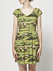 Birds of North America Green Animal Print Dress