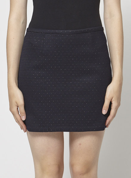 Des petits hauts NAVY SKIRT WITH GOLD DETAILS