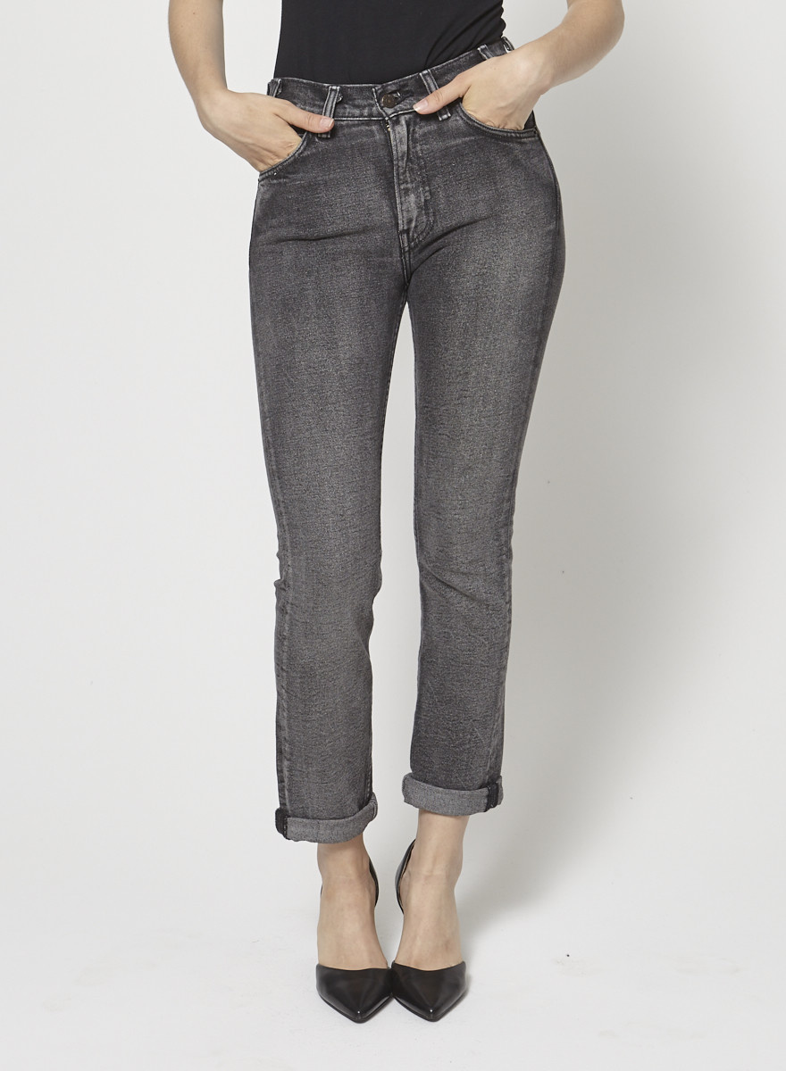 Levi's Straight Black Jeans Slightly Faded