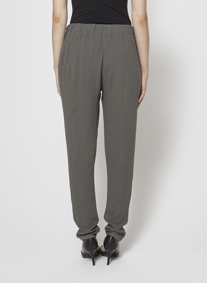 James Perse Pantalon kaki style jogging