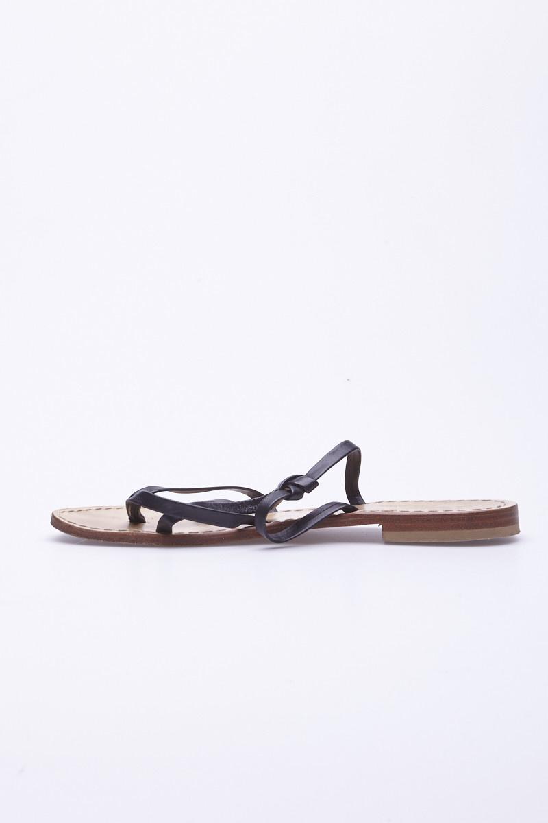 La Botteguccia Da Giovanni Positano Sandales noires en cuir