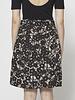 Weekend Max Mara Black and White Floral-Print Skirt