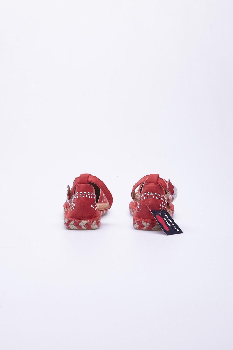 """Jacobies Espadrilles rouge corail à petits """"studs"""" - Neuves"""