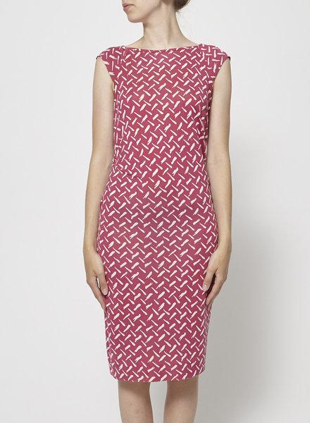 Diane von Furstenberg FUCHSIA SILK PRINTED DRESS