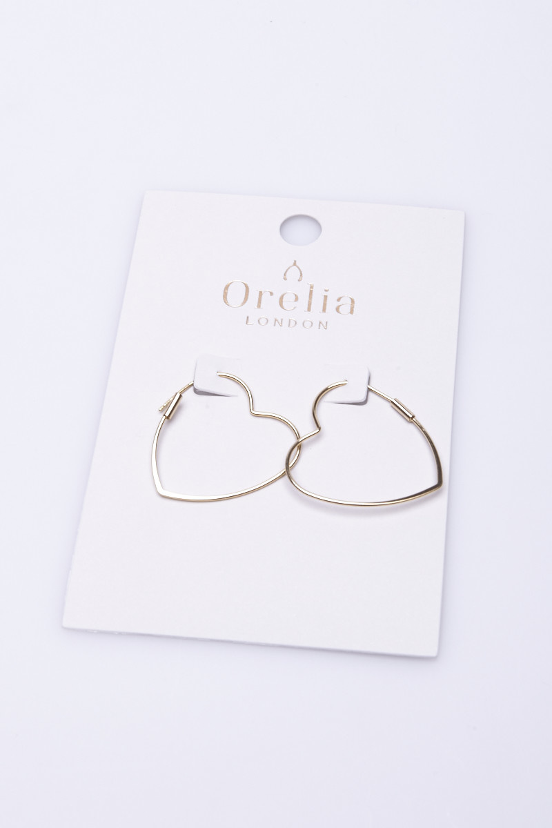 Orelia London Gold Heart Shaped Earrings