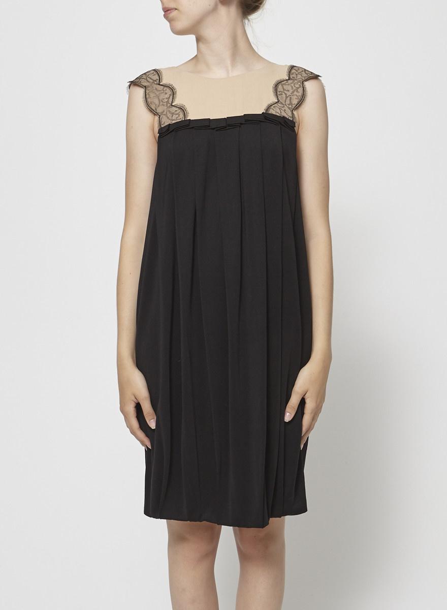 3.1 Phillip Lim Black Dress with Cream Laced Neckline