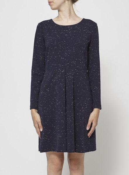 Madewell DARK BLUE SPECKLED DRESS