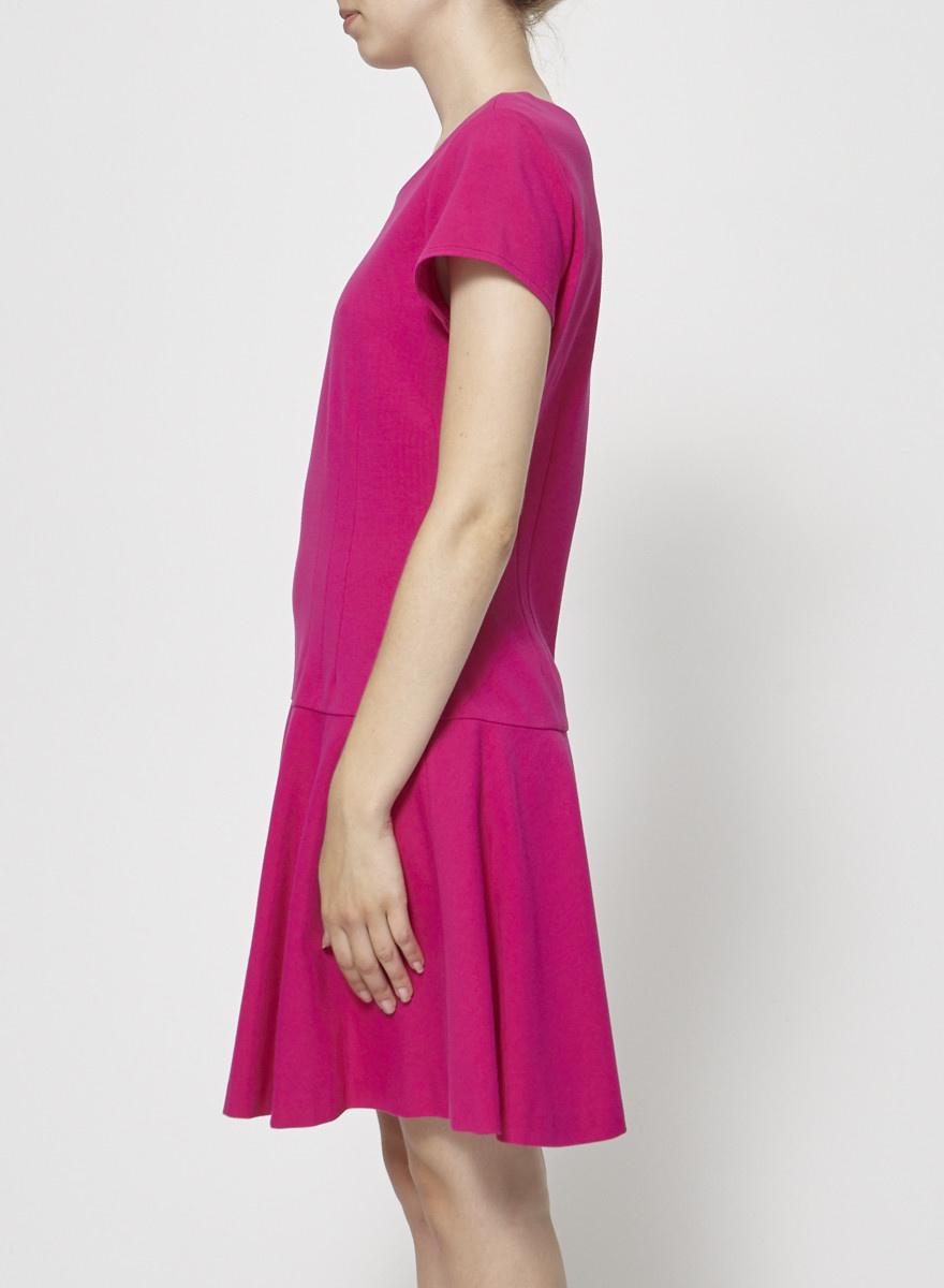 Diane von Furstenberg Robe patineuse fuchsia