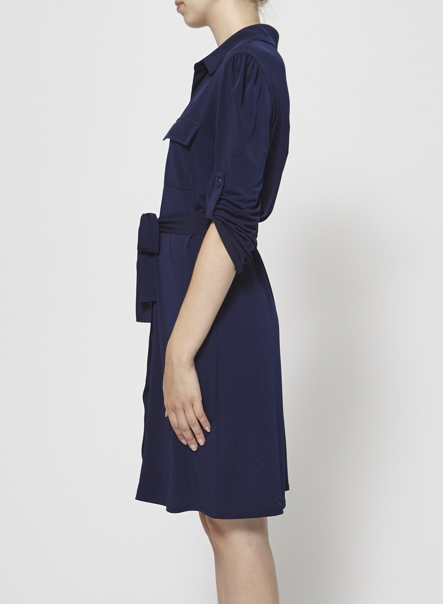 Laundry by Shelli Segal Navy Shirt Dress
