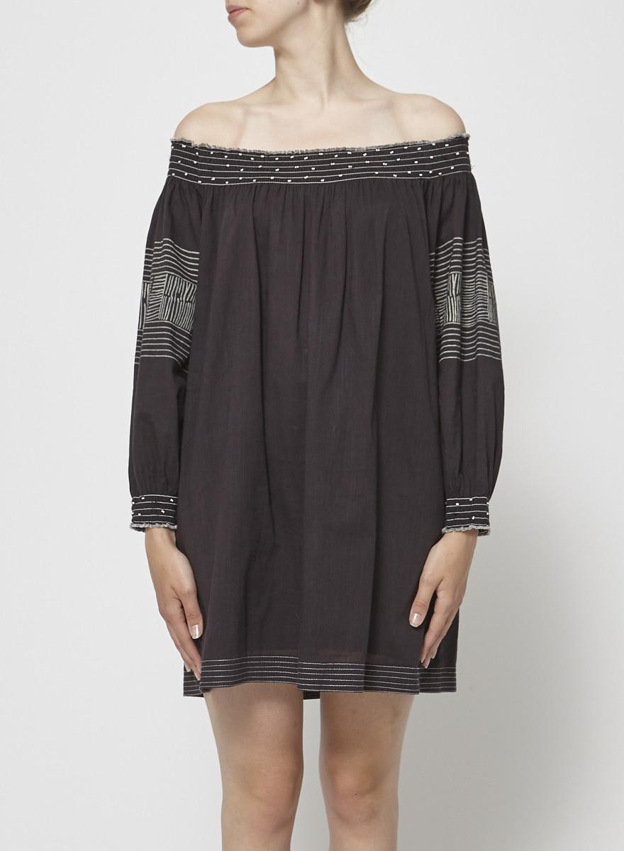 Velvet by Graham & Spencer Off-The-Shoulder Gray Dress