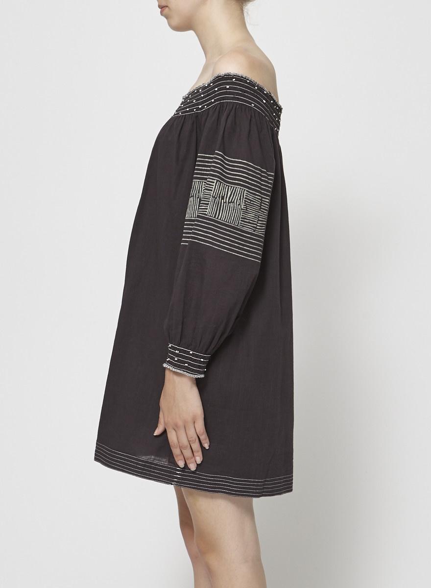 Velvet by Graham & Spencer Robe tunique grise à épaules dénudées