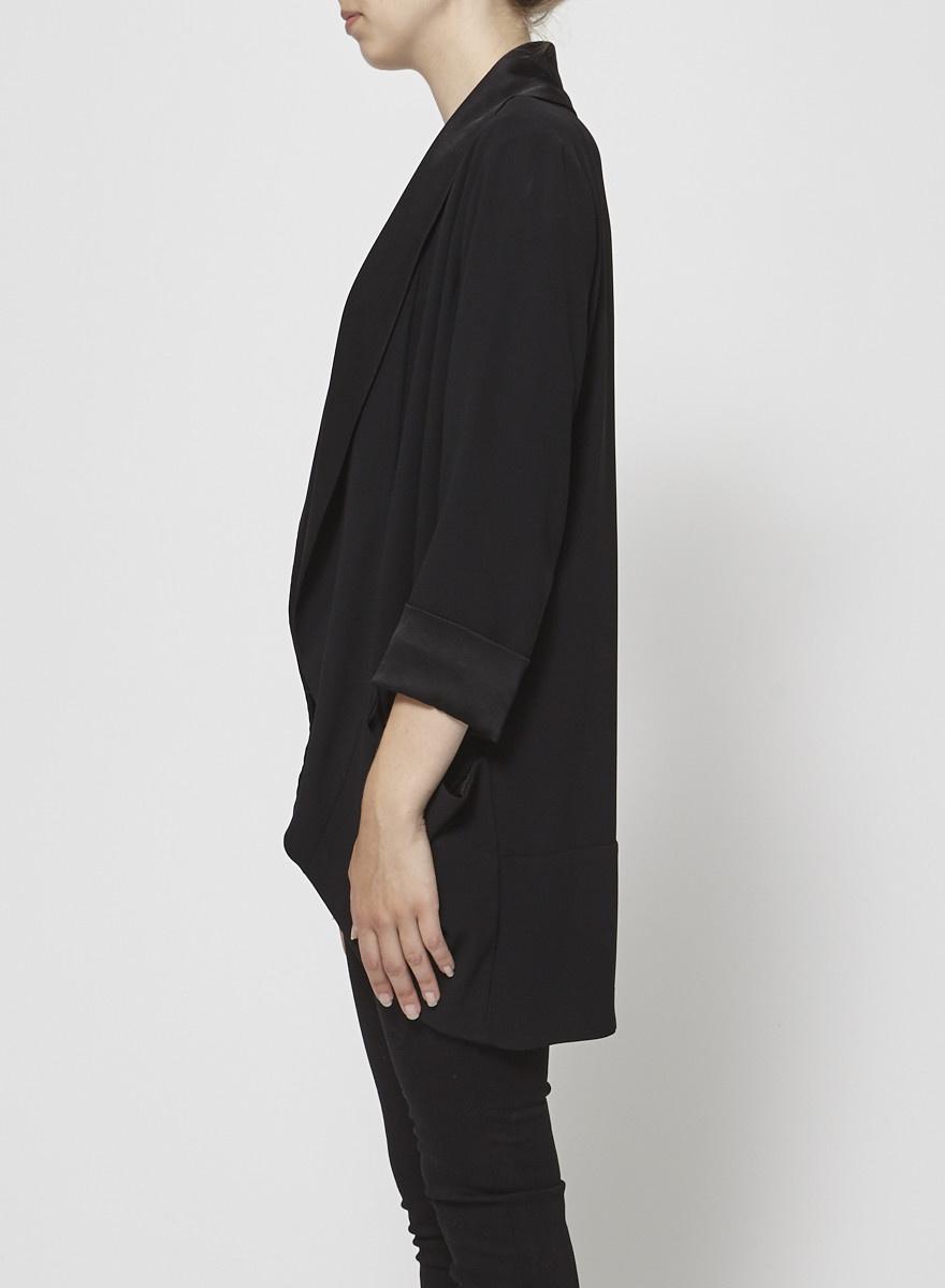 Wilfred Black Satin Jacket