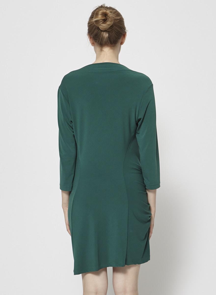 Veronique Miljkovitch Robe verte plissée