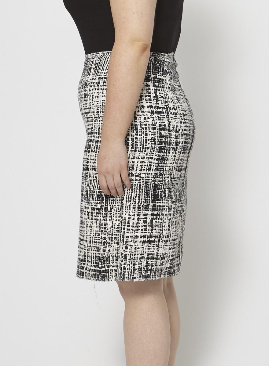 Prada Tweed Midi Skirt
