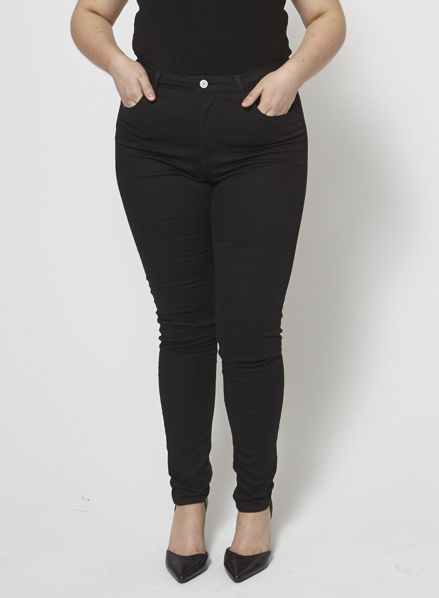 Levi's Jeans skinny noir à taille haute