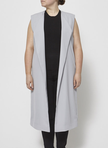 Halston Heritage LONG GREY BLAZER