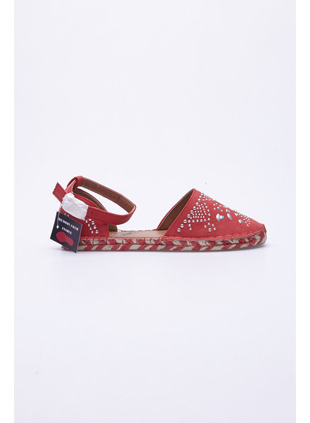 Jacobies SWAY CORAL STUDDED ESPADRILLE FLAT - NEW