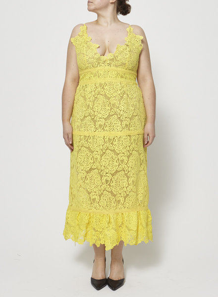foxiedox YELLOW LACE STRAPPY DRESS