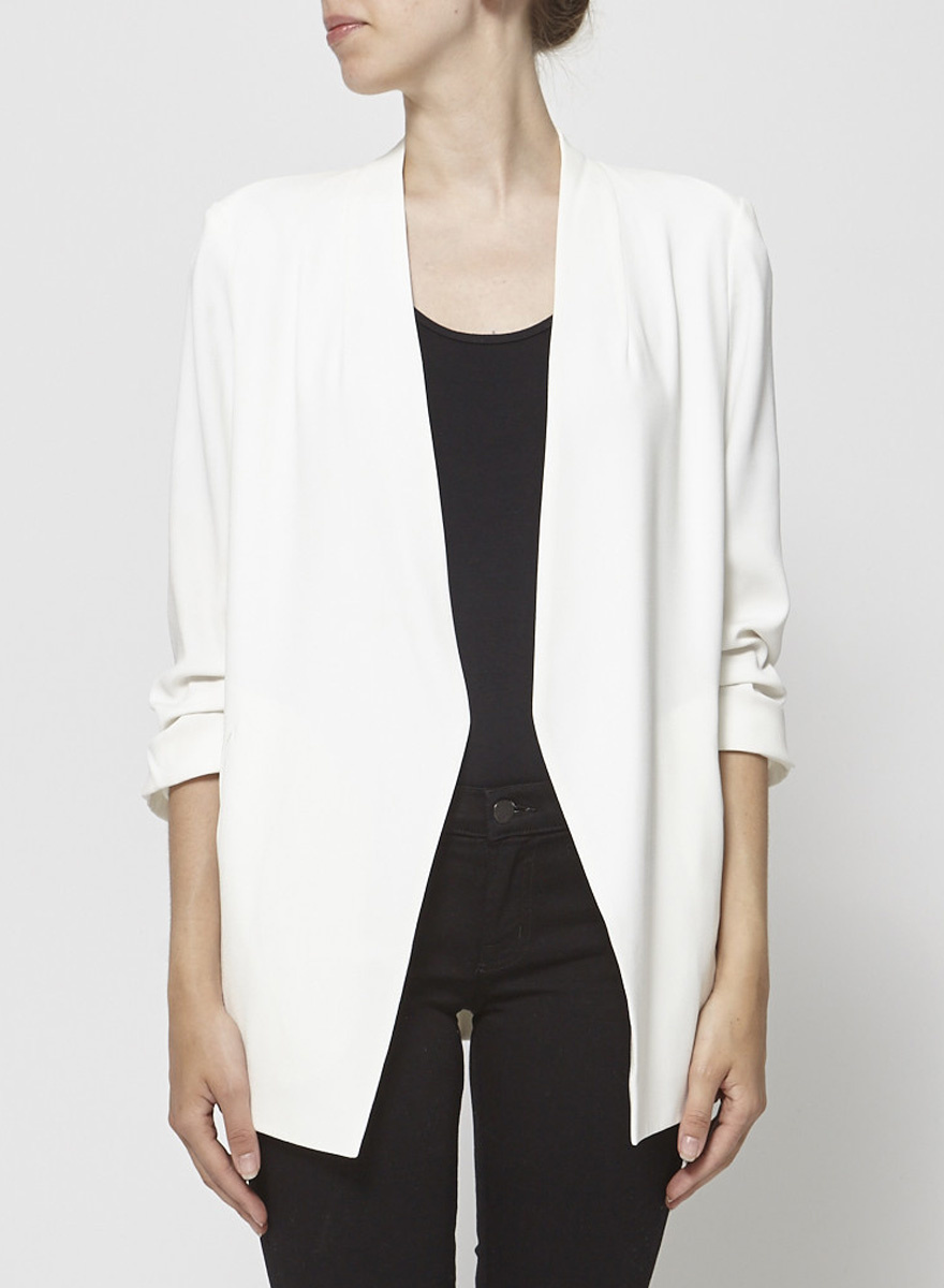 Babaton Long Off-White Blazer