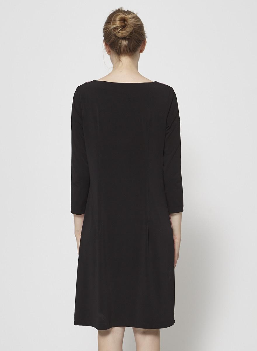 Barbeau Robe noire imprimé croix du Mont-Royal