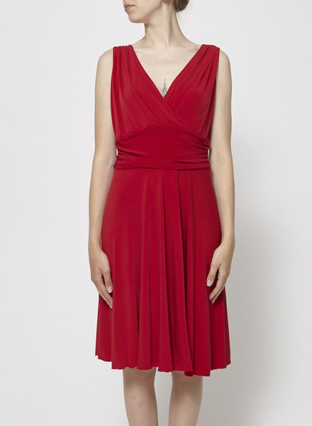 Barbeau RED DRAPED DRESS
