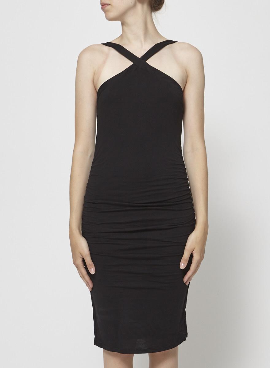 Velvet by Graham & Spencer Skinny Black Dress