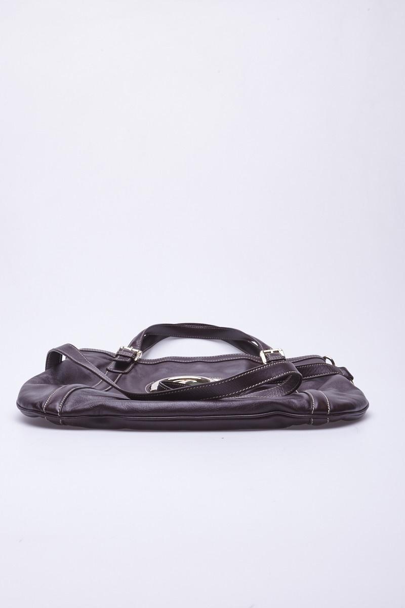 Gucci Monogrammed Brown Leather Handbag