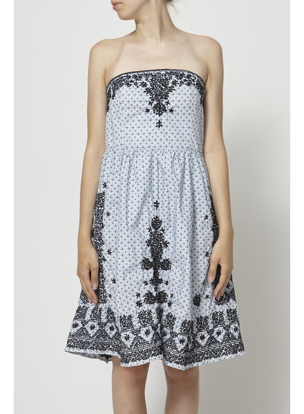 Moulinette soeurs PRINTED DRESS WITH REMOVABLE STRAPS
