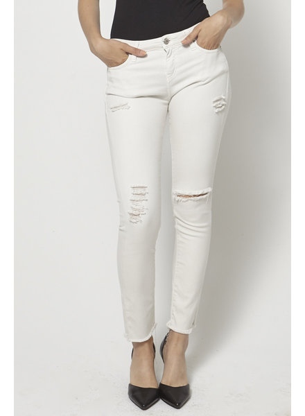 Iro WHITE DISTRESSED SKINNY JEANS