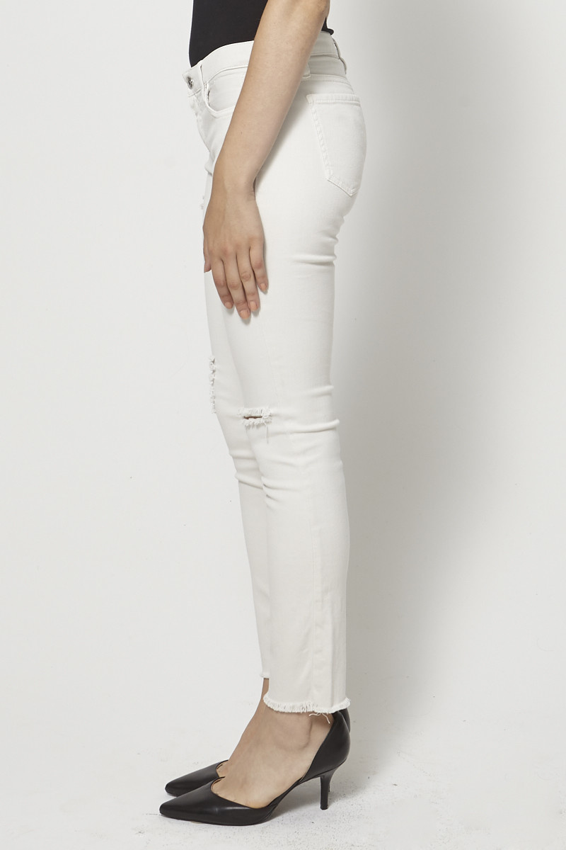 Iro White Distressed Skinny Jeans