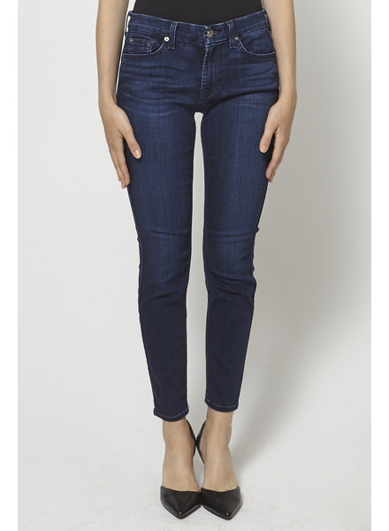 7 for all mankind DARK BLUE SKINNY JEANS