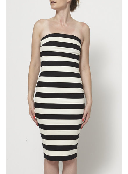 Robert Rodriguez STRAPLESS STRIPED DRESS