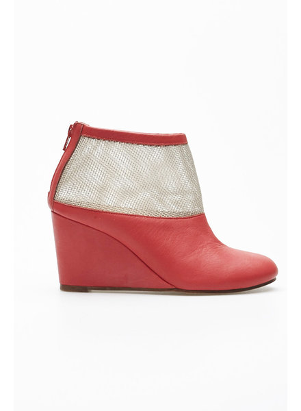 MM6 Maison Margiela CORAIL LEATHER WEDGE BOOTIES