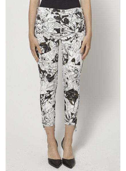 7 for all mankind CROPPED FLORAL-PRINT JEANS