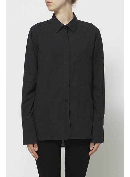 Christophe Lemaire BLACK SHIRT WITH REMOVABLE COLLAR
