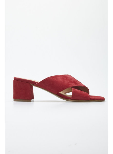 L'intervalle RED SUEDE MULES