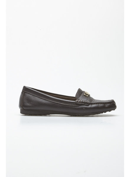 Coach FREDERICA BROWN LEATHER LOAFERS