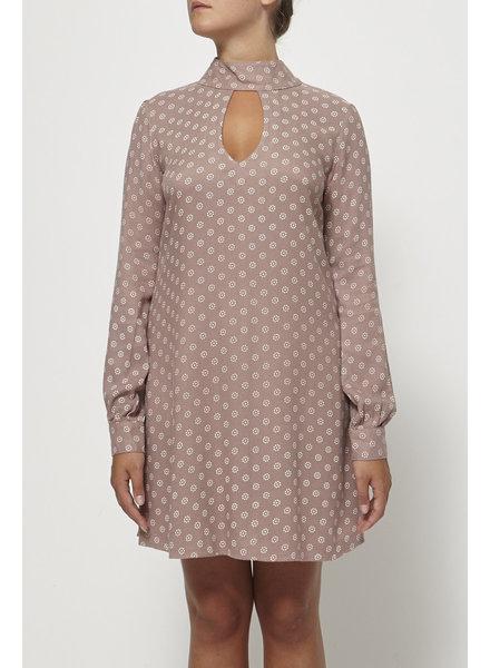 Elan PINK PRINTED KEYHOLE NECKLINE DRESS - NEW